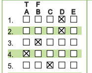 GradeHub multiple-choice answer sheet