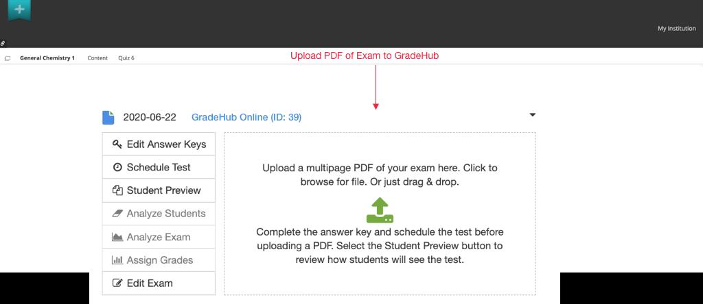GradeHub Online - Upload exam PDF